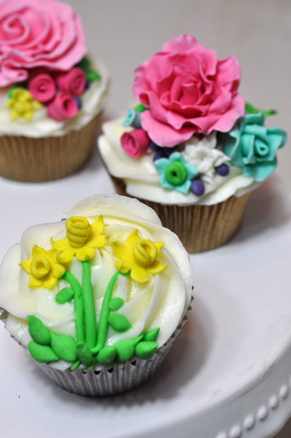 curso de cupcakes de flores