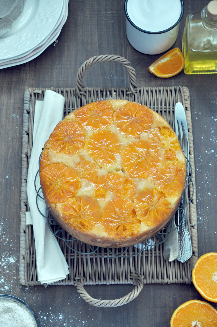 tarta de mandarinas foto cenital