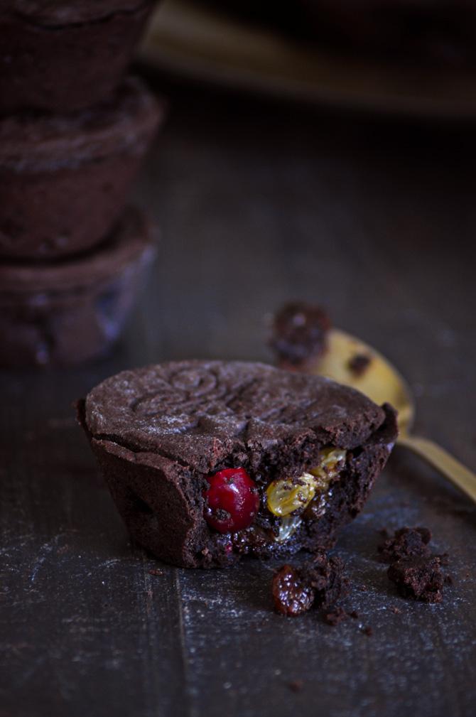 receta de mince pies de chocolate con fruta confitada especial navidad