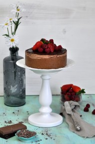Tarta de queso y chocolate (Chocolate cheesecake)
