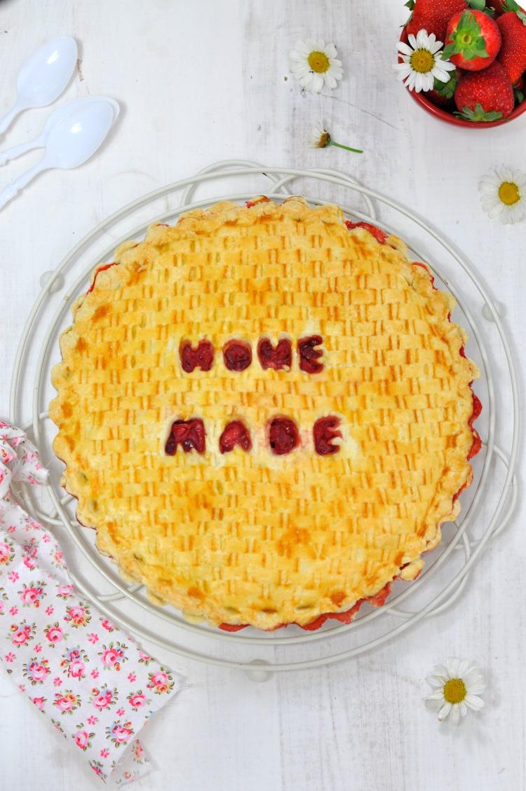 pastel de fresas home made