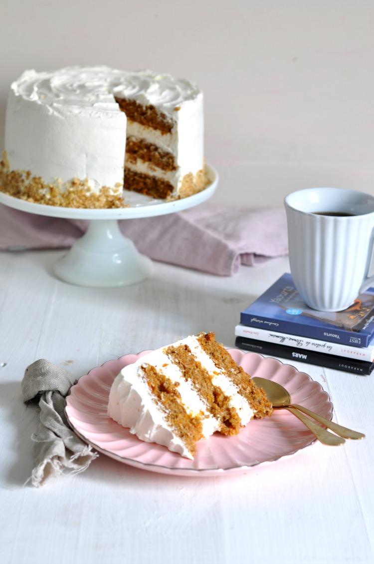 pastel de zanahorias con nueces carrot layer cake