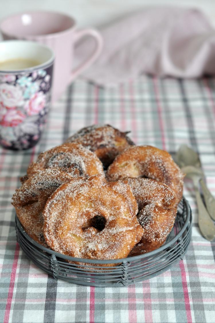 donuts buñuelos de manzana apple fritters