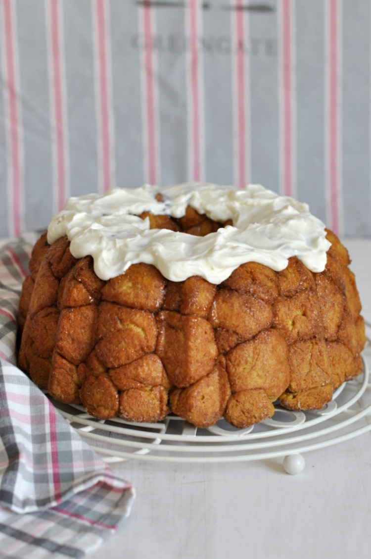 monkey bread calabaza y crema de queso