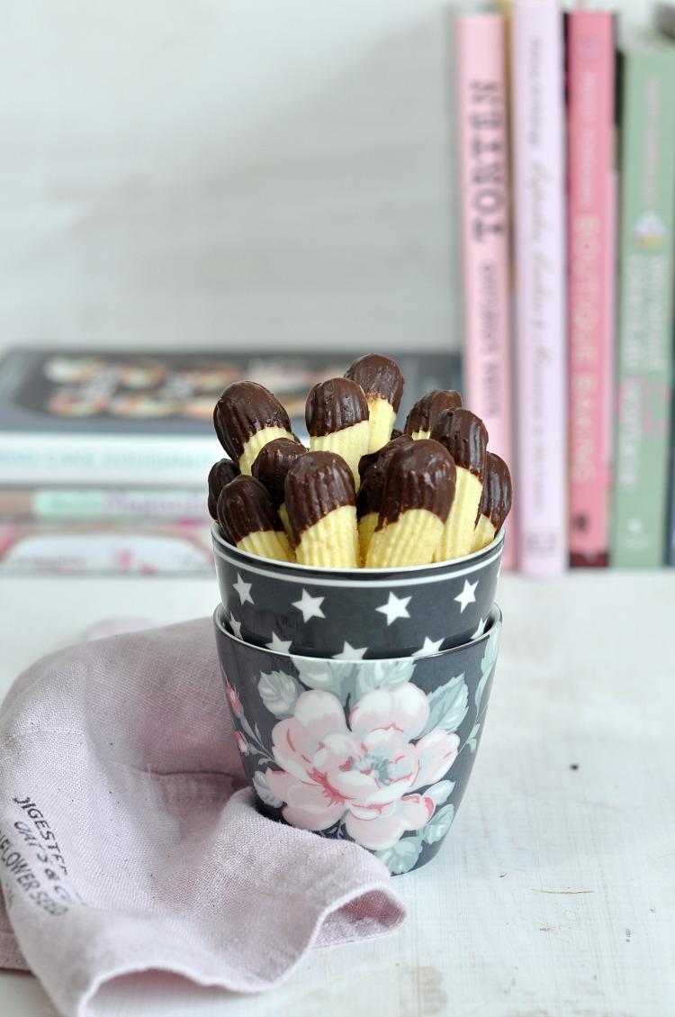 pastas de té con chocolate