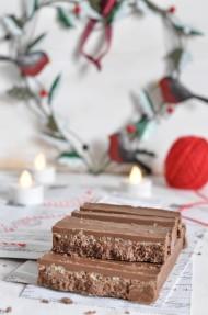 Turrón de chocolate y arroz inflado (Suchard casero). Receta Navidad