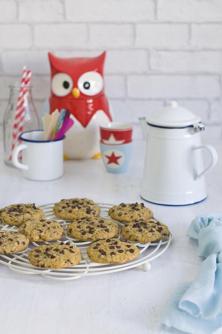cookies de choco avena y nueces