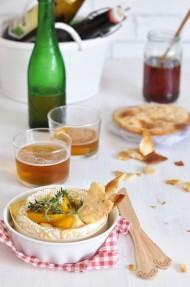 Dip de Camembert y melocotón