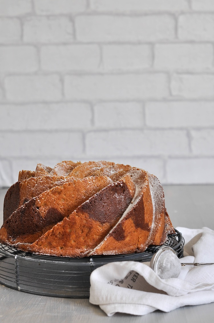 bundt cake de platano y nutella