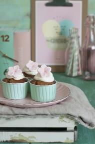 Muffins de plátano y azúcar moreno
