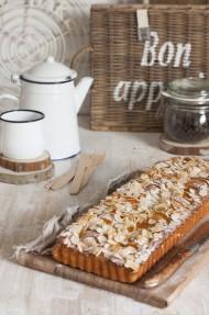 Pastel de ricotta y albaricoques (sin gluten)