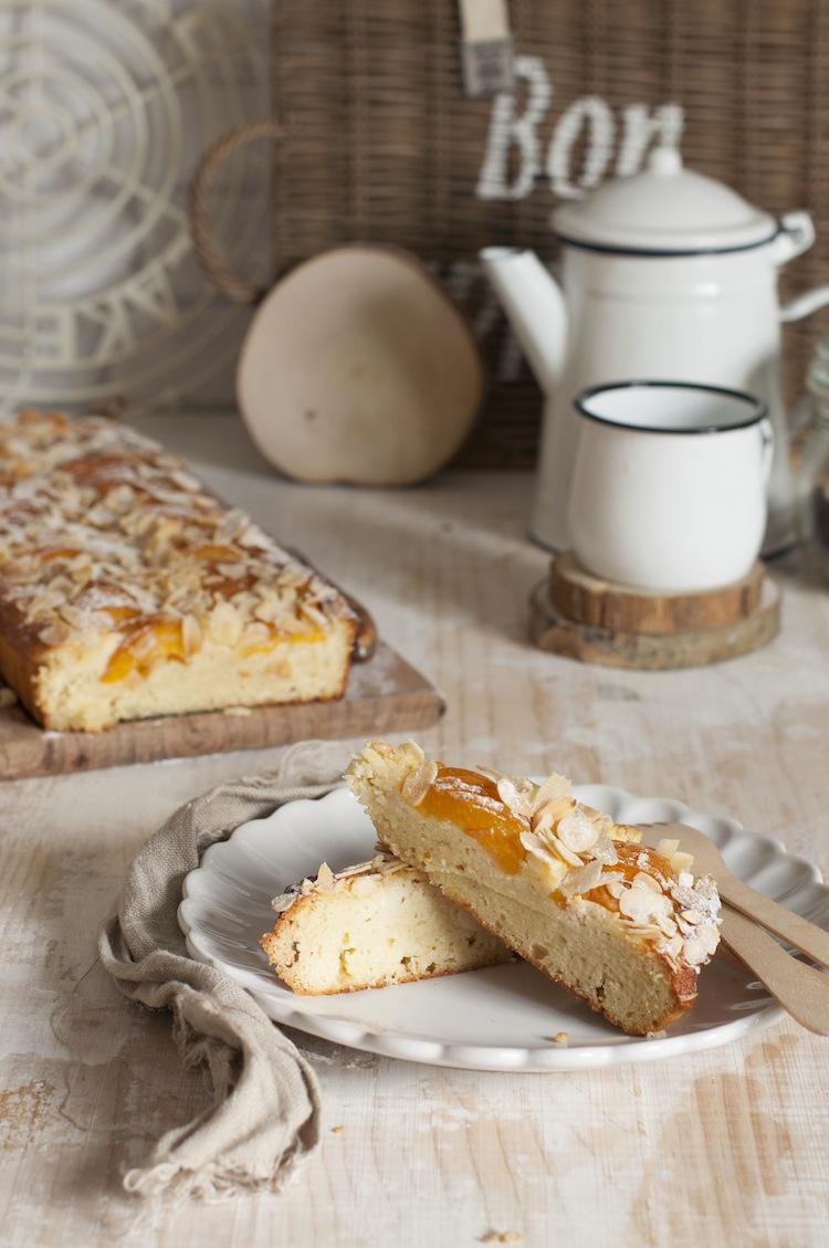 pastel de albaricoques
