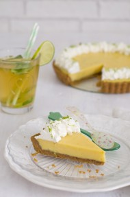 Tarta de lima (Key lime pie)