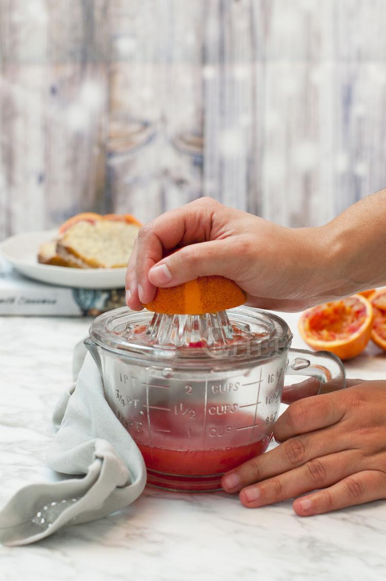 zumo de naranja sanguina