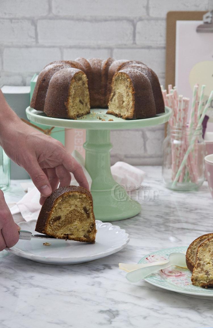 bundt cake de speculoos y platano