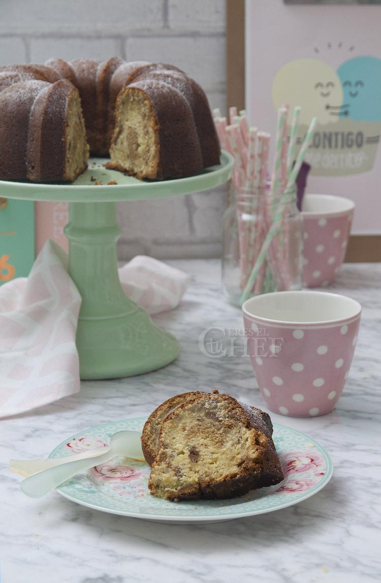 bundt cake platano y crema de lotus