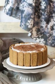 Cheesecake de café y galletas