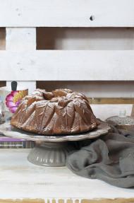 Bundt cake de calabaza y nutella